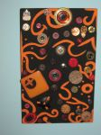 Recycled Art -  Orange And Black Mural by Art-Excetera-ESQ
