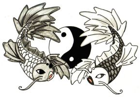 Yin-Yang: Koi Style by Mallenroh001