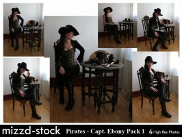 Pirates - Captain Ebony Black Pack 1 by mizzd-stock