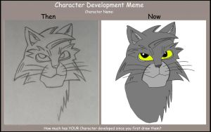 Greystripe Now and Then Meme by Hawklegs