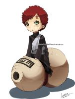Chibi Gaara by faustsketcher