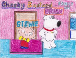 BASTARDLY but CHEEKY - Stewie and Brian by aabarro13