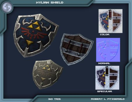 Hylian Shield OoT V. 2.0 by Robemon3689