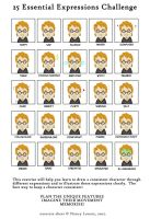 25 Expressions Meme by Felolira