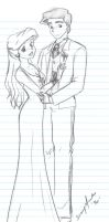 Ariel and Eric Prom.....sketch by Jupta