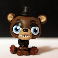 Freddy Fazbear from FNAF LPS custom by pia-chu