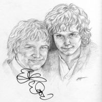Frodo and Sam with autograph by Amelie-ami-chan