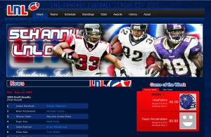 LNL Fantasy Football - Website by madeofglass13