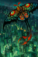 Mothra Redesign by creepyfish