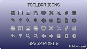 Toolbar Icons by bokuwatensai