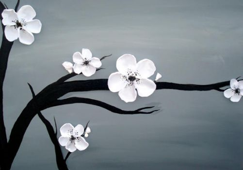 3d cherry blossom painting by sheratosh