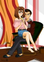 In romantic togetherness by Tebi-chan