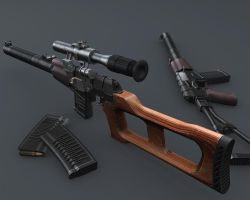 3D VSS 'Vintorez' + AS 'Val' by pete-c-89