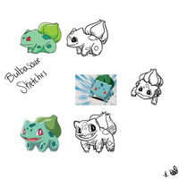 Bulbasaur Sketches by PeaceAndStardust