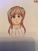 A cute girl with a flower crown :Wip: by lemon-black