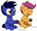 Games with Scootaloo by drawponies