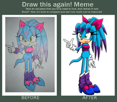 Meme - Draw this again by MicaiahtheEchidna