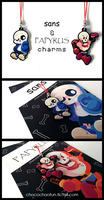 Sans and Papyrus charms by ChocoChaoFun