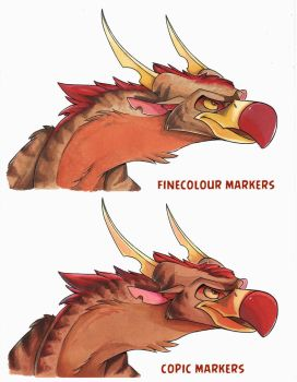 Finecolour vs Copic markers by Green-Nightingale