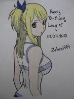 Happy B-day Lucy :D by Vero-desu