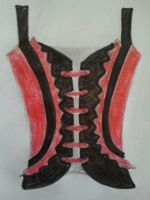 A corset for girls, rock style by Aninadesign