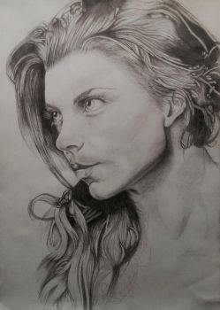 Natalie Dormer as Anne Boleyn by Thanatasia666