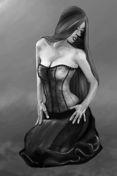 womanInCorsetKneeling by RottingM3at