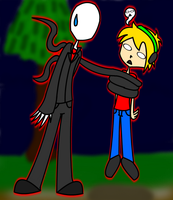 Pewdie and slendy by cutegal129