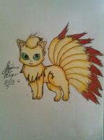 Ninetales drawing by Miku-chan9