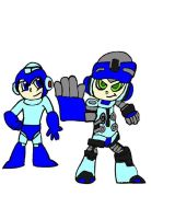 Megaman and Mighty No. 9 by tanlisette