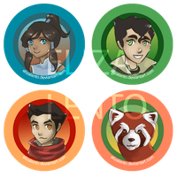 Legend of Korra Button Set by ElizaLento