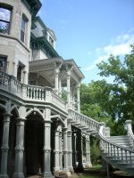 white Victorian house by Narnia-Rose