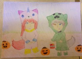 Chibi Toshi with Savage Trick or Treat by extraphotos