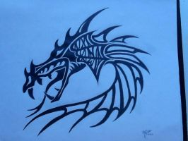 Tribal Dragon by MoonProphecy