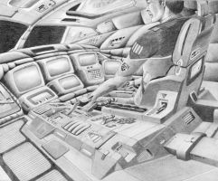 Cargo shuttle interior by Robby-Robert