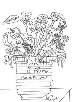 for my mum flowers inked by TanithLipsky