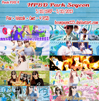 Pack PSD 4: Happy Birthday Park Soyeon 26th by boonguyen123