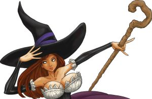 Sorceress, dragon's crown, close up. by DavidRaphet