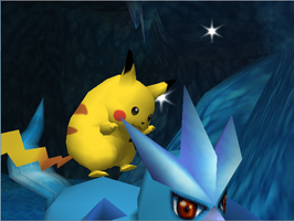 Pokemon Snap Flying Pikachu 2 by SusanLucarioFan16