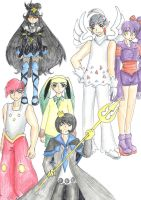Pokemon Platinum Gijinka Team by CandySkitty
