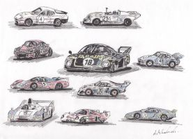 1980 Le Mans Cars by thunderingpikachu