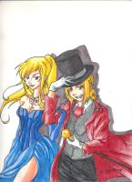 Edward and Winry Halloween by creativegoth18