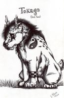 Tokage feral form by FuriarossaAndMimma