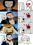 Rob Lucci fangirling by ABURAMEFANFOREVER