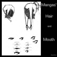 Mangas' hair style and mouth by Bouchon