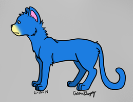 Blue Cat Redrawn by The-Smile-Giver