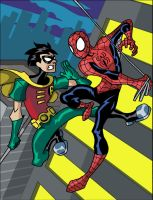 Spider-man versus Robin by theRedDeath888