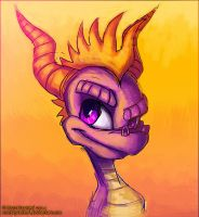 Yellow Mohawk and Purple Eyes by MustaPantteri