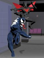 Venom vs Batman Beyond (Marvel vs DC) by ProjectCornDog