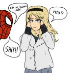 Gwen Stacy and Spider-Man by Agent-Jin